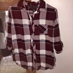 Tops - Maroon Flannel. Perfect for fall!